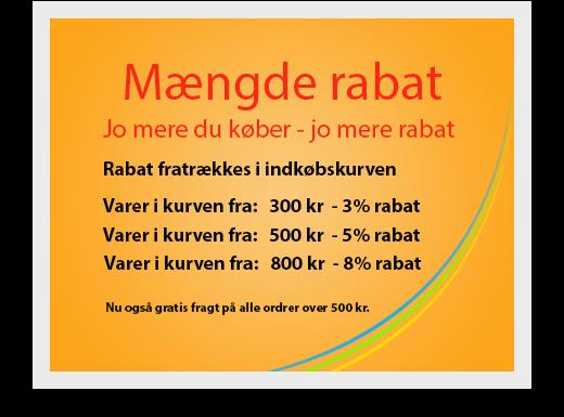 Mængde Rabat %