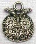 Vedhæng Ugle tibetansk sølv 18 mm