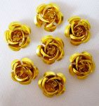 Metal rose 15 mm gul 10 stk