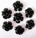 Metal rose 15 mm sort 10 stk