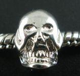 Stopper perle med Skull 11x8 mm