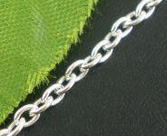Kæde Sølvbelagt 3 x 2 mm
