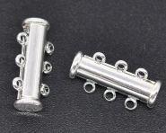 Smykkelås slide sølvbelagt 19,7x6,7 mm