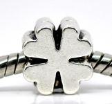Metalperle firkløver - 10 stk