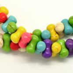 Magnesit perler 14x8 mm mix farve