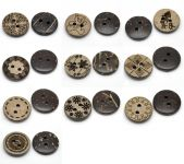Knapper 15 mm - 10 assorterede