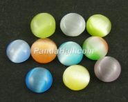 Cats eye glas cabochon 10 ass.