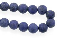 Lapis Lazuli frosted 10 mm