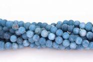 Frosted Blå Jade 8~9 mm