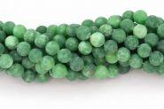 Frosted Grøn Jade 8~9 mm