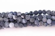Agat frostet krakeleret 10 mm sort