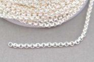 Rustfri stål kæde Sølvfarve 2x1 mm