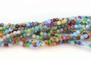 Glasperler Millefiori rund 4 mm