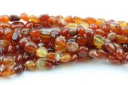 Naturlig Agat lille nugget Orange/Rød