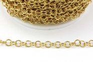 Rustfri stål kæde 5 mm Guld
