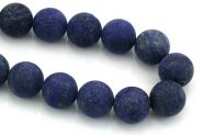 Lapis Lazuli frosted 14 mm