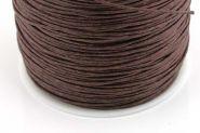 Knyttesnor 0,5 mm brun vokset bomuld 80 mtr.