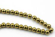 Hematit rund guld 8 mm