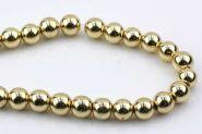 Hematit lys guld rund 10 mm