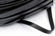 Lædersnor sort flad