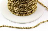 Rustfri stål kæde 2 mm Guld