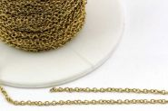 Rustfri stål smykkekæde 2 x 1,5 mm Guld