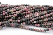 Rhodonite 4 mm mat