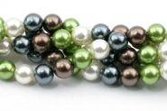 Shell perler 8 mm Mørk Olivengrøn