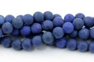 Lapis Lazuli frosted 8 mm