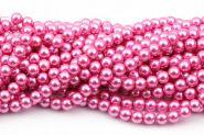 Glasperler 10 mm rosa