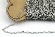 Rustfri stål smykkekæde 4 x 2,2 mm