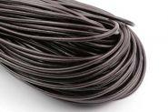 Lædersnor mørkbrun 4 mm