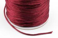 Knyttesnor 2 mm Mørk Rød