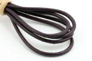 Lædersnøre violet 2 mm