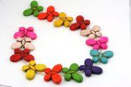 Magnesit multifarvede sommerfugle 25x35 mm