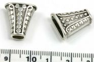 Perlehat 18x16,5 mm antik sølv farve 10 stk