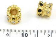 Rhinsten perle guld 4,5 mm hul