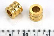 Rustfri stål led guld hul 6 mm