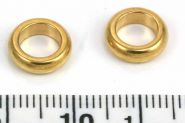 Rustfri stål led guld hul 6,5 mm