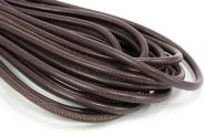 Randsyet læder 4 mm brun 1/2 mtr