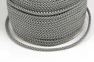 Faldskærmsline 4 mm Sort/grå spot