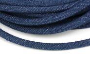 Jeans snøre mørk blå 6 mm 1/2 mtr.