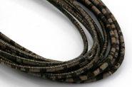 Kork snor 2,5 mm rund Mørk/Zebra 0,5 mtr