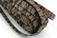 Kork snor 10 mm flad Mørk/Zebra 0,5 mtr