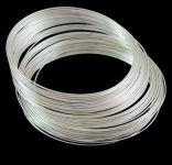 Memory wire til armbånd rustfri stål sølvbelagt
