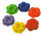 Acryl rose 18 mm mix farve 3 stk