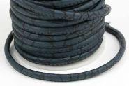 Imiteret slangeskind blå 4 mm