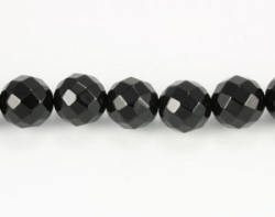 Sort Onyx faceteret 12 mm