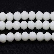 Glasperler 4x3 mm hvid