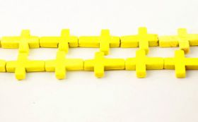Magnesit kors 20x30 mm Gul
